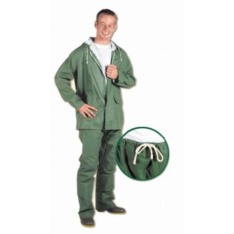 Traje de PVC color verde