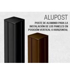 Poste Aluminio Alupost 2,15x0.06 Blanco