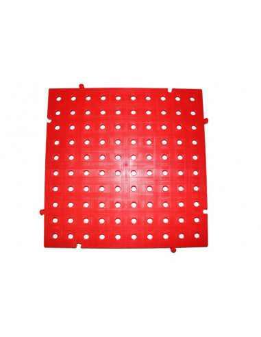 M2. PAVIMENTO PLACAS PVC REJILLAS 50X50X2,5 CMS COLOR ROJO