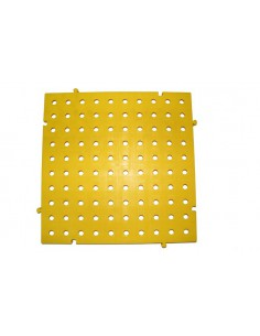 PLACAS PVC REJILLAS 50X50X2,5 CMS COLOR AMARILLO