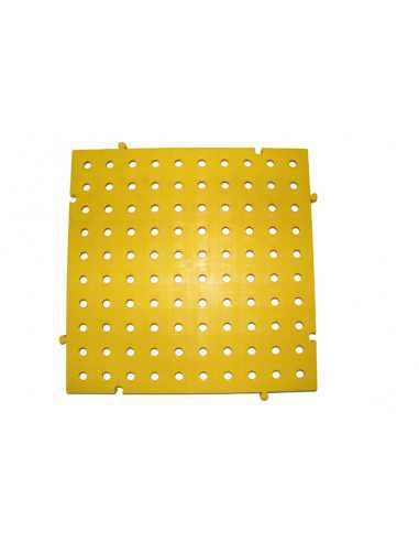 M2. PAVIMENTO PLACAS PVC REJILLAS 50X50X2,5 CMS COLOR AMARILLO